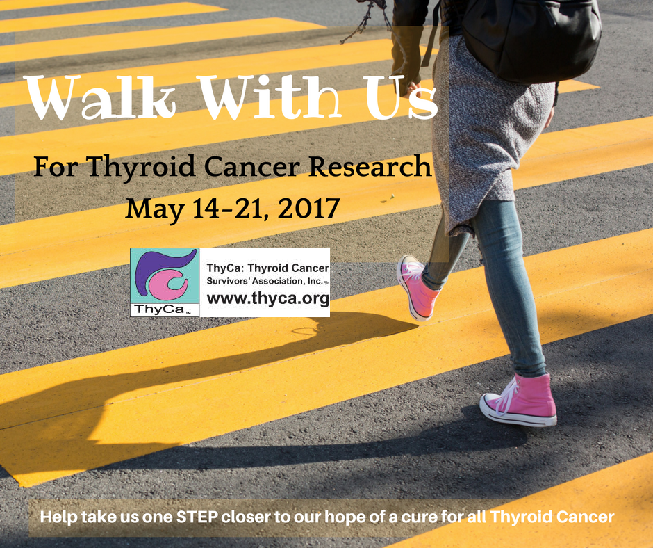 walk with us for thyroid cancer research may 1421 2017
